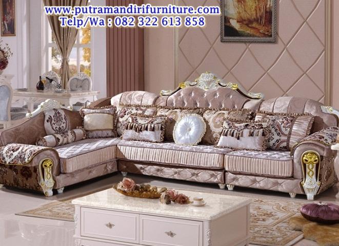 kursi sofa sudut ukir modern