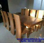 set kursi makan minimalis kayu trembesi