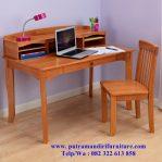 desain set meja belajar anak minimalis
