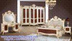 model set tempat tidur ukiran modern