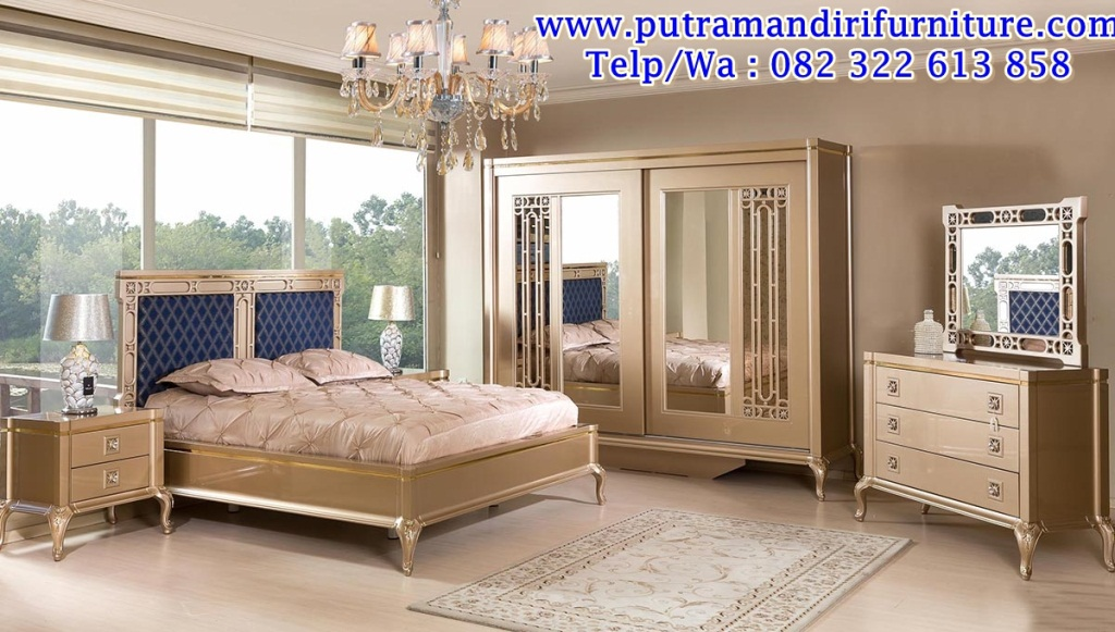 Set Kamar Tidur Mewah Minimalis Mewah Desain Model