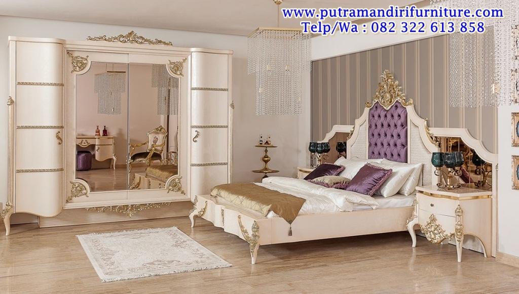 Set Kamar Tidur Mewah Modern Desain Model Furniture Jepara Terbaru
