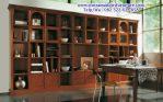model rak buku kayu minimalis