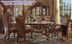 set meja makan ukiran marlin