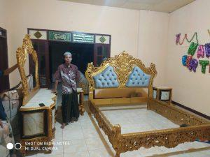 Set Tempat Tidur Ukir Gold Classic