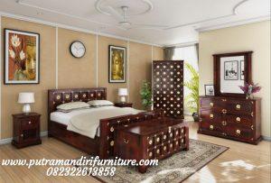Set Tempat Tidur Ukir Mozaik