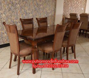 Set Kursi Makan Sofa Jati Modern