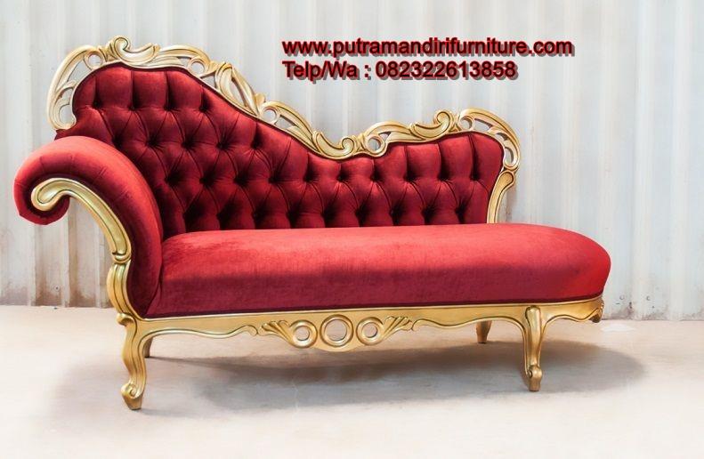 Bangku Sofa Sudut Ukir Gold