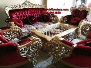 Set kursi Sofa Tamu Bellagio Merah
