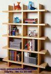 lemari buku minimalis mewah