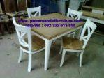 set kursi makan modern minimalis
