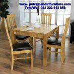 set kursi makan minimalis modern