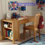 set meja belajar anak finishing natural