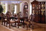 set meja makan ukiran klasik amish KMM-36